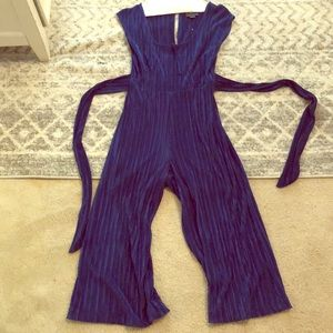 Amazing Blue Anthropologie Tied Jumpsuit